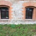 Kunststofffenster Mahagoni 1-Flügelig mit Glasteilender Sprosse & Oberlicht Festverglasung als Stichbogen Fenster & 2 & 3-Fach Verglasung