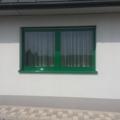Aluminium Fenster 2-Flügelig Farbe RAL 6029 Minzgrün 3 Kammer System mit Unterputzrolladen & Aluminium Fensterbank RAL 6029 Minzgrün 2-Fach Schallschutz Verglasung Widerstandsklassen P2A