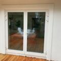 Aluminium Haustür 2-Flügelig Farbe Weiß mit zwei-teiligen Haustür Bänder beidseitig zu öffnen